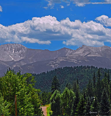 Photograph - Pikes Panoramic Center Segment by T Guy Spencer