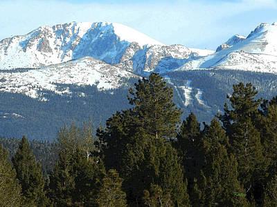 Pikes Peak Colorado Painting - Pikes Peak 2 by Kathy  Symonds