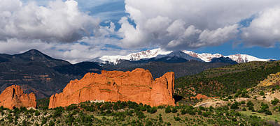 Photograph - Pikes Peak And Garden Of The Gods Panoramic by Tim Reaves
