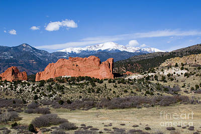 Steven Krull Royalty-Free and Rights-Managed Images - Pikes Peak and Garden of the Gods Park in Colorado Springs by Steven Krull