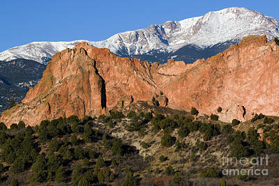 Steven Krull Royalty-Free and Rights-Managed Images - Pikes Peak and Garden of the Gods by Steven Krull