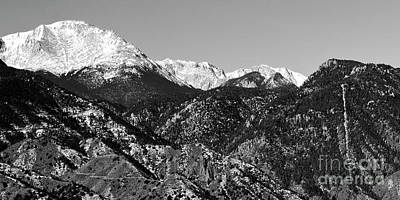 Steven Krull Royalty-Free and Rights-Managed Images - Pikes Peak and Incline 36 by 18 by Steven Krull