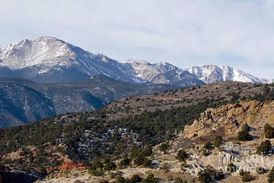 Photograph - Pikes Peak Behind The Garden by Steve Krull