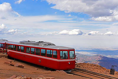 Photograph - Pikes Peak Cog Rail Colorado Peak by Toby McGuire