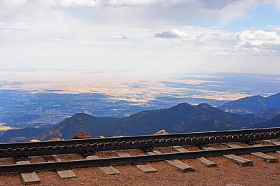 Photograph - Pikes Peak Cog Rail Train Tracks Colorado 2 by Toby McGuire