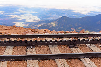 Photograph - Pikes Peak Cog Rail Train Tracks Colorado by Toby McGuire