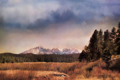 Pikes Peak Painting - Pikes Peak Colorado Landscape Art By Jai Johnson by Jai Johnson