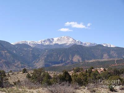 Pikes Peak Colorado One Art Print