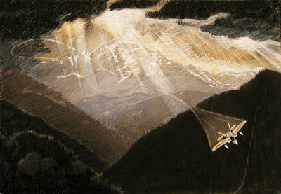 Pikes Peak Flight Art Print by Nils Bifano