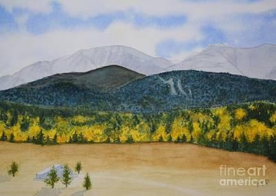 Pikes Peak Colorado Painting - Pikes Peak In The Fall - Colorado by Trish Powell