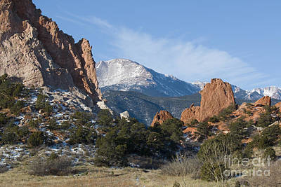 Photograph - Pikes Peak In The Garden Valley by Steve Krull