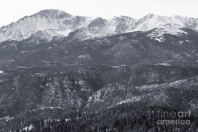 Steven Krull Royalty-Free and Rights-Managed Images - Pikes Peak in Winter by Steven Krull