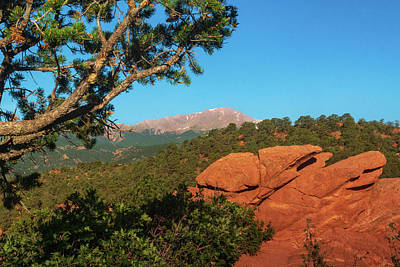 Photograph - Pikes Peak by John De Bord