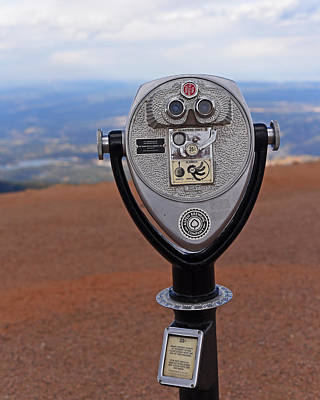 Observatory Digital Art - Pikes Peak Manitou Colorado Lookout by Toby McGuire