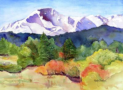 Pikes Peak Colorado Painting - Pikes Peak - Or Bust by Renee Chastant