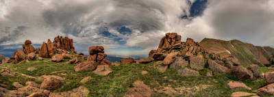 Photograph - Pikes Peak Panorama by Chris Bordeleau