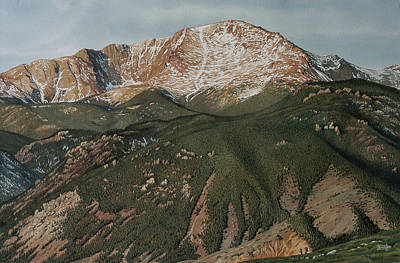 Pikes Peak Painting - Pikes Peak by Rich Marks