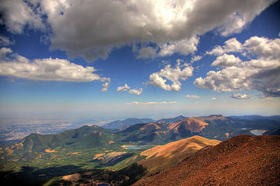 Garden Of The Gods Photograph - Pikes Peak Summit by Shawn Everhart