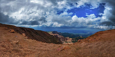 Photograph - Pikes Peak Summit Vista #1 by Chris Bordeleau