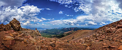 Photograph - Pikes Peak Summit Vista #2 by Chris Bordeleau