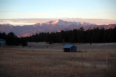Pikes Peak Colorado Painting - Pikes Peak Sunrise by Dennis  Rundlett