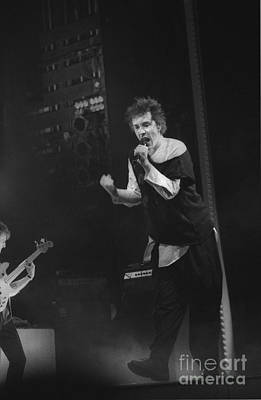 Famous People Photograph - Pil Johnny Shaking His Fist by Philippe Taka