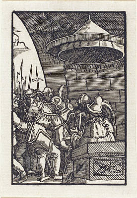 Drawing - Pilate Washing His Hands by Albrecht Altdorfer