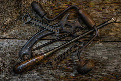 Photograph - Pile Of Antique Tools by Randy Walton
