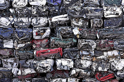 Photograph - Pile Of Car Wrecks by Marek Stepan