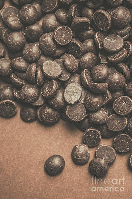 Confectionery Photograph - Pile Of Chocolate Chip Chunks by Jorgo Photography - Wall Art Gallery