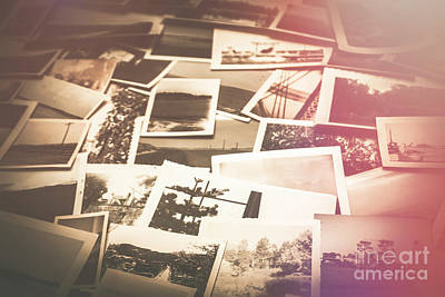 Faded Photograph - Pile Of Old Scattered Photos by Jorgo Photography - Wall Art Gallery