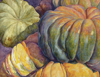 Painting - Pile Of Pumpkins by Sheri Hoeger