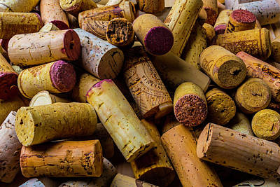 Stopper Photograph - Pile Of Wine Corks by Garry Gay