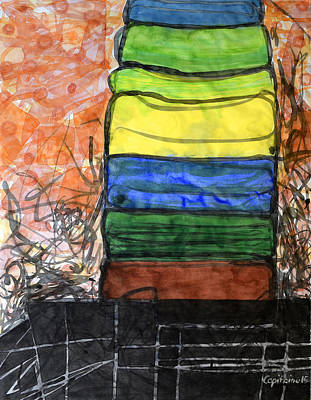 Piled Color Original by Heidi Capitaine