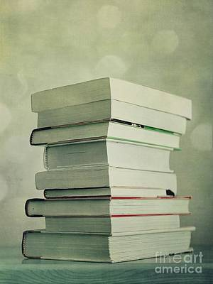 Piled Reading Matter Print by Priska Wettstein