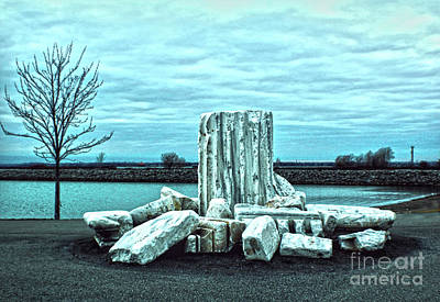 Photograph - Piled Ruins by Sandy Moulder