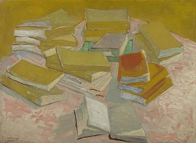 Painting - Piles Of French Novels Paris, October  November 1887 Vincent Van Gogh 1853  1890 by Artistic Panda