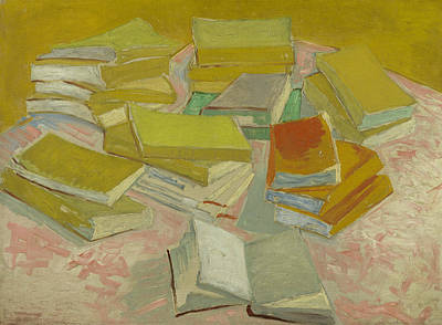 Novel Painting - Piles Of French Novels by Vincent van Gogh
