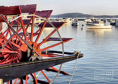 Photograph - Pilgrim Belle Water Wheel by Janice Drew