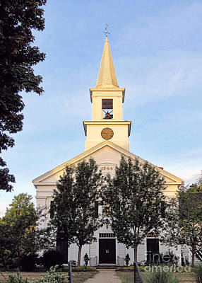 Photograph - Pilgrim Church Of Duxbury  by Janice Drew