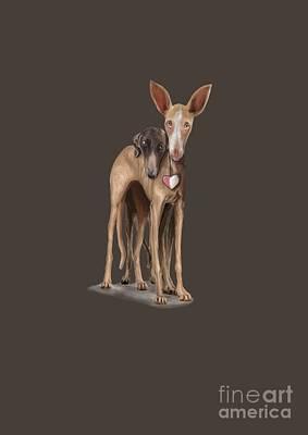 Rescued Greyhound Digital Art - Pilgrim Feet by Hound Sanctuary