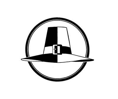Digital Art - Pilgrim Hat - Tee Shirt by rd Erickson