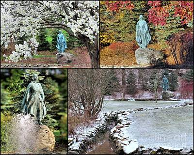 Photograph - Pilgrim Maiden In Four Seasons by Janice Drew