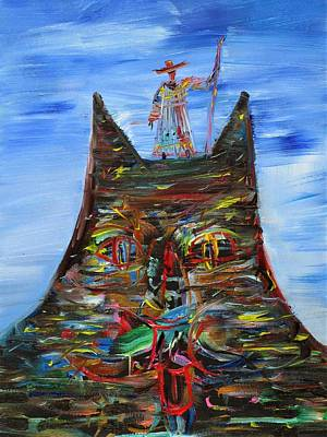 Painting - Pilgrim Of The Cat Rock by Fabrizio Cassetta