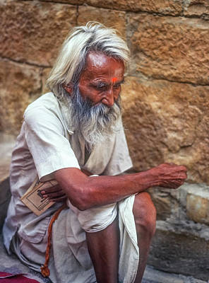 India Religion Photograph - Pilgrim - Such A Long Journey by Steve Harrington