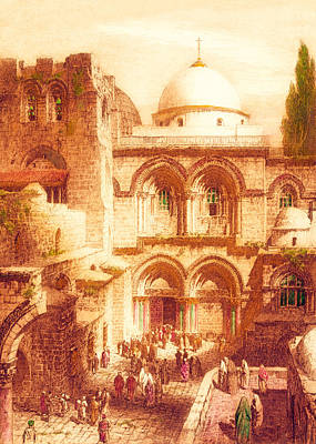 Photograph - Pilgrims At Holy Specular by Munir Alawi