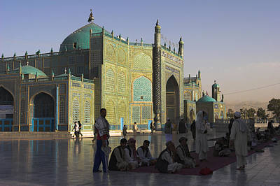 Afghanistan Photograph - Pilgrims At The Shrine Of Hazrat Ali by Jane Sweeney