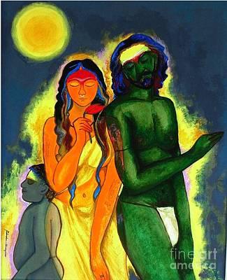 Pilgrims Art Print by Padmakar Kappagantula