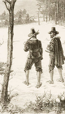 Drawing - Pilgrims by Reverend Samuel Manning