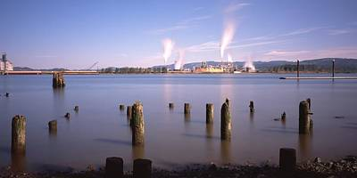 Photograph - Pilings Rainier Oregon by HW Kateley